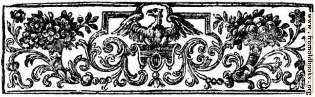 Chapter Heading Woodcut featuring Eagle
