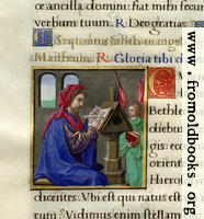 Page detail from Mediaeval Book of Hours