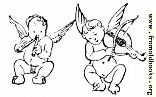 Two cherubs play flute and violin