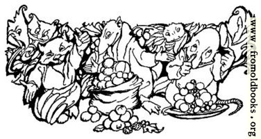 Goblins with bowls of fruit