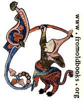 Drollery (margin-creature), Jester Centaur