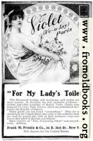 Old Advert: For My Lady's Toilet