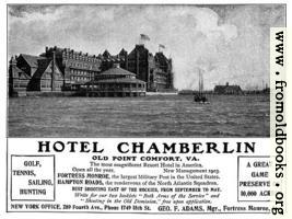 Old Advert: Hotel Chamberlin