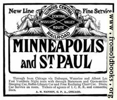 Old Advert: Illinois Central Railroad