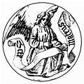 Badge of Saint Matthew the Evangelist, from Alphabets & Numbers of the Middle Ages (1845)