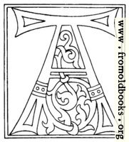clipart: initial letter A from late 15th century printed book