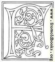 clipart: initial letter F from late 15th century printed book