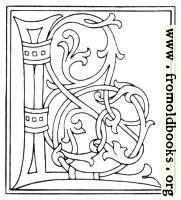 clipart: initial letter L from late 15th century printed book