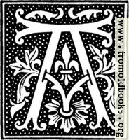 clipart: initial letter A from beginning of the 16th Century