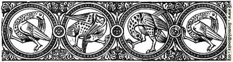 Gothic Chapter Head: Mediaeval Birds