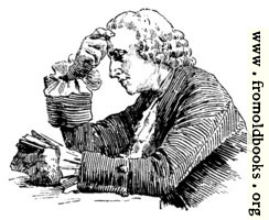 Man reading at a table