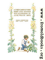 Title page from A Child's Garden of Verses