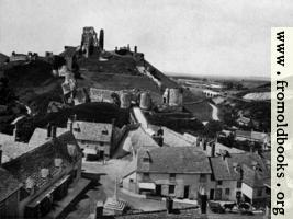 Corfe Village and Castle