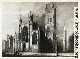 Plate III. Gloucester Cathedral. West Front and South Side.