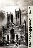 Plate XXVI: Lincoln Cathedral. West Front.