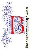 Decorative initial letter B from fifteenth Century Nos. 4 and 5.