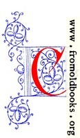 Decorative initial letter C from fifteenth Century Nos. 4 and 5.