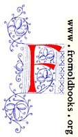Decorative initial letter F from fifteenth Century Nos. 4 and 5.