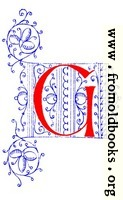 Decorative initial letter G from fifteenth Century Nos. 4 and 5.