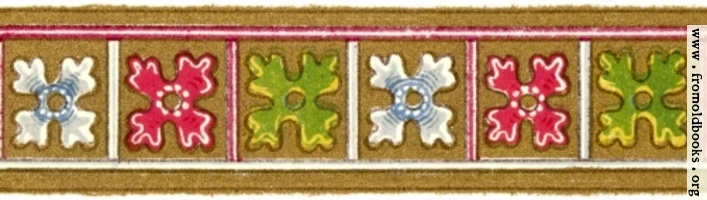 Horizontal border with flowers, Item 15 from Plate 85