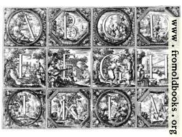 Valerio Spada: Historiated Alphabet, 1656– 1659 [A-M]