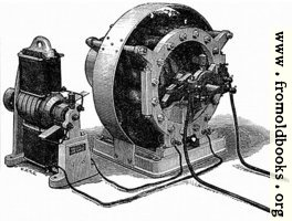 Figs. 15 and 16.—Showing Siemens' Alternate Current Dynamo, with its Excitor.