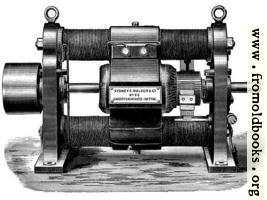 Fig. 17.—Showing Old Type of Gramme Continuous Current Dynamo.