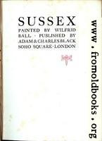 Title Page, Ball on Sussex
