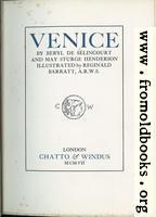 Title Page, Venice