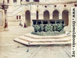 63.—Bronze Well-Head by Alberghetti—Courtyard of the Palazzo Ducale.
