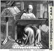 Scriptorium Monk at Work