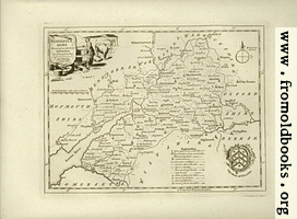 Antique Map of Glocestershire