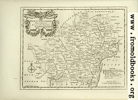 Antique Map of Hertfordshire