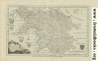 Antique Map of North Wales