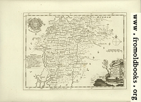 Antique Map of Westmoreland [Westmorland]
