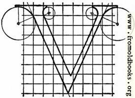 "Letter V from ""Alphabet after Serlio"""