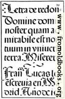 143.—Spanish Round Gothic Letters.  Francisco Lucas, 1577
