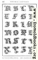 166.—Italian Gothic Initials, Giov. Palatino, 16th Century.