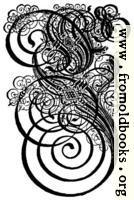 German Gothic Initials - Swirly Fraktur Blackletter Initial Letter E