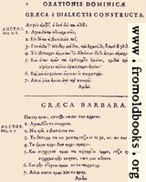 06: Græca è Dialectis constructa; Græca Barbara