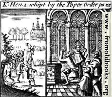 King Henry II whipped by the Pope's Order