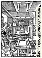 8.—Detail: Printing Page Woodcut
