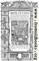 8.—Title Page from De Studio Literarum (1536)