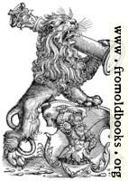 68a.—Myller Book Mark - Lion With Pillar
