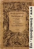Book cover, Ornamentik Der Renaissance (Vol. I.)