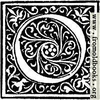 Foliated Decorative Capital Letter O
