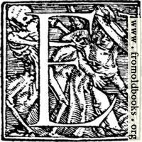 """62e.—Initial capital letter """"E"""" from Dance of Death Alphabet"""