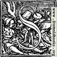 """62s.—Initial capital letter """"S"""" from Dance of Death Alphabet."""