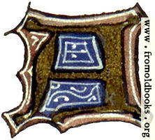 "calligraphy: mediaeval decorative letter ""A"""
