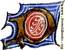 "calligraphy: mediaeval decorative letter ""P"""